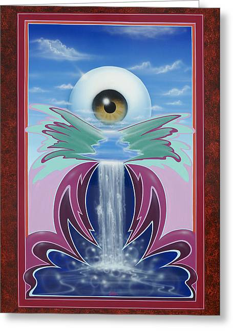 In The Wink Of An Eye Greeting Card by Alan Johnson