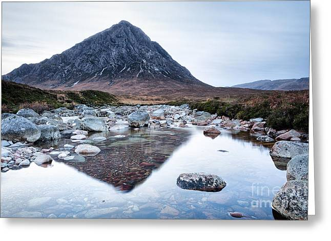 Buachaille Etive Mor Greeting Cards - In the world we have nothing if we are alone Greeting Card by John Farnan