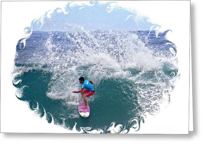 Surfing Photos Greeting Cards - In the Zone Greeting Card by Scott Cameron