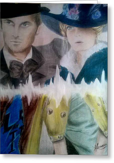 Portaits Mixed Media Greeting Cards - In this life or another Greeting Card by Kkarla Martinnee
