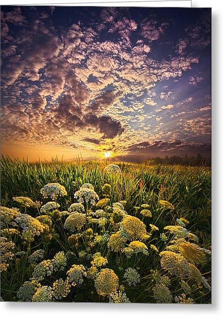 Queen Greeting Cards - In This Moment We Are Infinite Greeting Card by Phil Koch