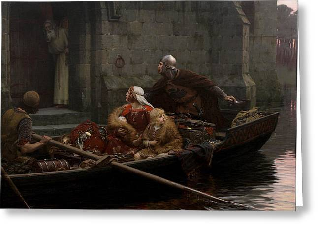 Family Time Greeting Cards - In Time of Peril Greeting Card by Edmund Blair Leighton