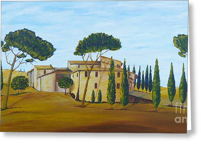 Acylic Painting Greeting Cards - In Tuscany Greeting Card by Christine Huwer