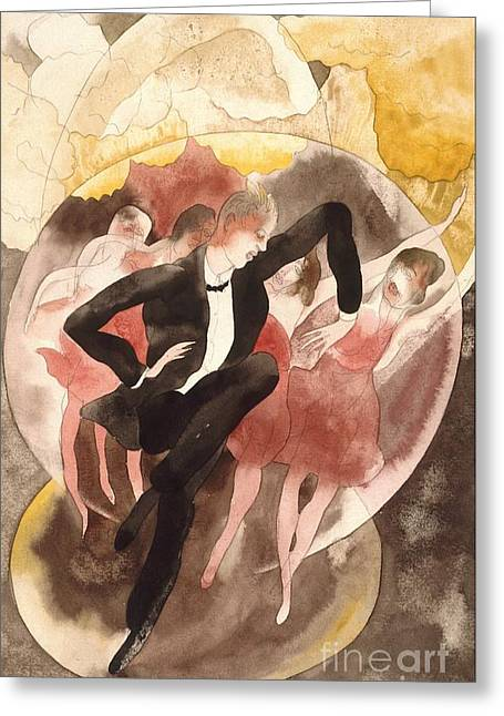 Demuth Greeting Cards - In Vaudeville - Dance and Chorus Greeting Card by Pg Reproductions