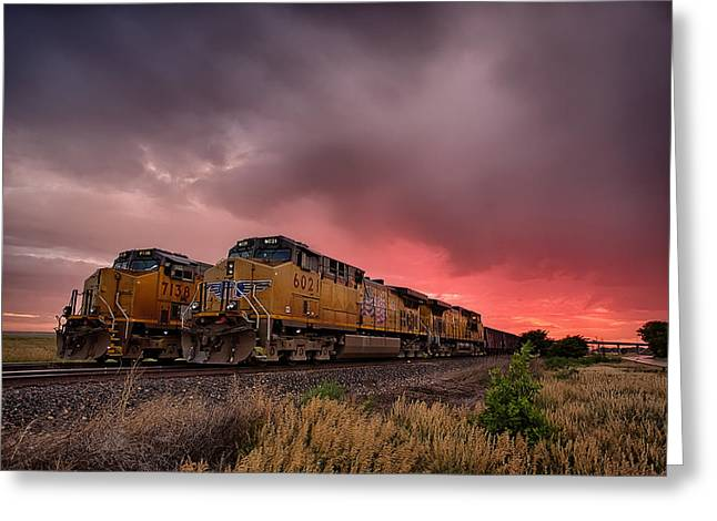 Caboose Photographs Greeting Cards - In Waiting Greeting Card by Thomas Zimmerman