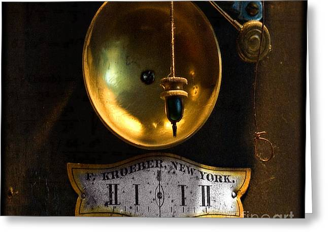 Clocks Digital Art Greeting Cards - In which events pass from the future through the present to the past Greeting Card by Steven  Digman