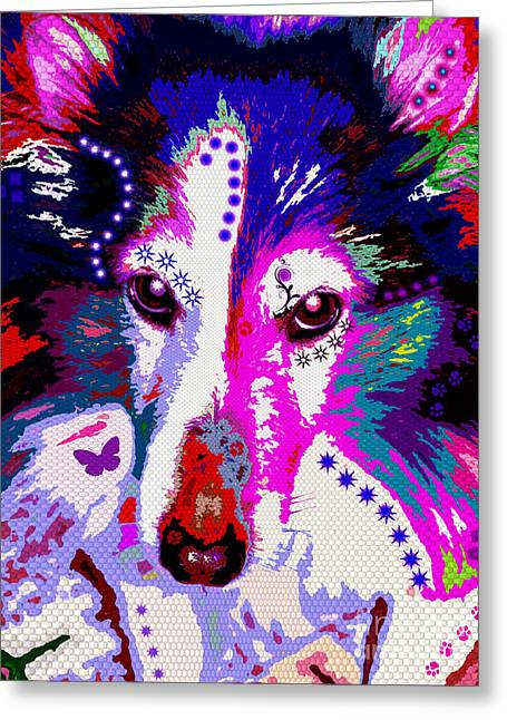 Herding Dogs Greeting Cards - In Your Eyes Greeting Card by Colleen Kammerer