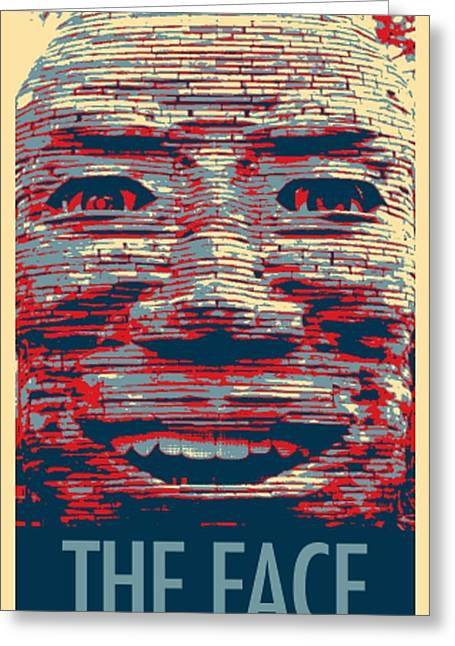 Shepard Fairey Greeting Cards - IN YOUR FACE in HOPE Greeting Card by Rob Hans