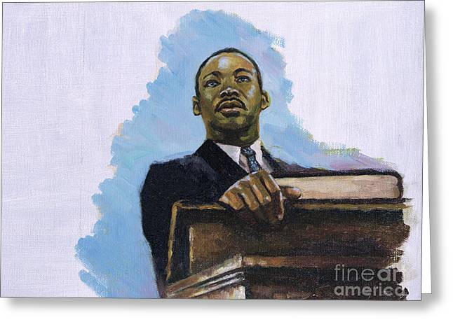 Martin Luther King Jr. Greeting Cards - Inalienable Greeting Card by Colin Bootman