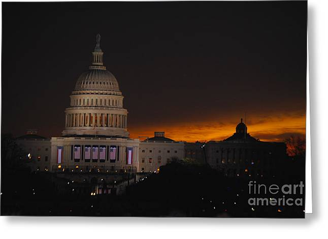 Vice President Biden Greeting Cards - Inauguration New Horizon Greeting Card by Jost Houk