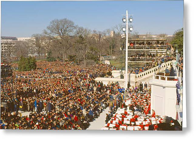 President Of America Photographs Greeting Cards - Inauguration Of President William Greeting Card by Panoramic Images
