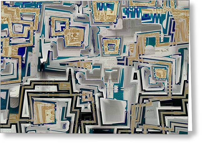 Cubist Greeting Cards - Inboxed - s03a Greeting Card by Variance Collections