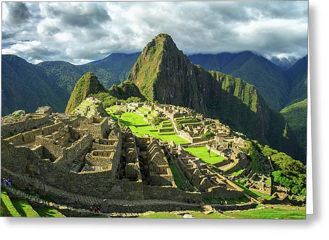 Inca City Of Machu Picchu, Urubamba Greeting Card by Panoramic Images