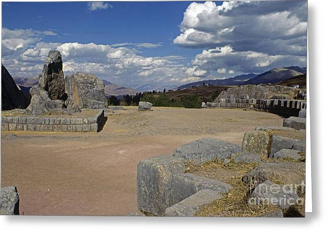Accurateness Greeting Cards - Inca Rock Monolith Peru Greeting Card by Craig Lovell