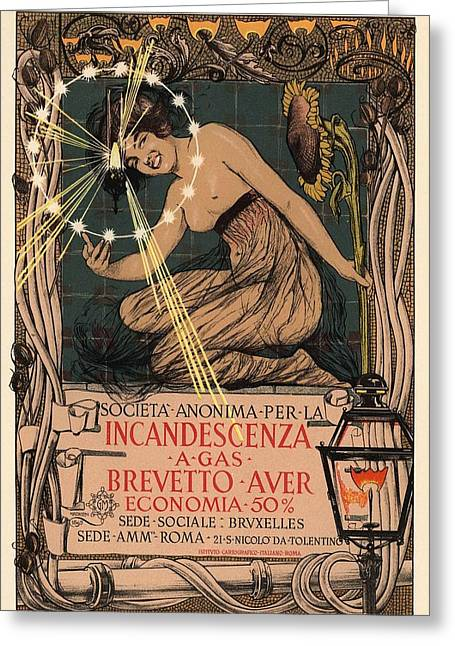 Belle Epoque Greeting Cards - Incandescenza a Gas Greeting Card by Gianfranco Weiss