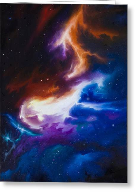 Stellar Paintings Greeting Cards - Incarus Nebula Greeting Card by James Christopher Hill