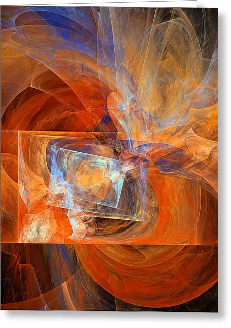 Algorithm Greeting Cards - Incendiary Ammunition Abstract Greeting Card by Georgiana Romanovna