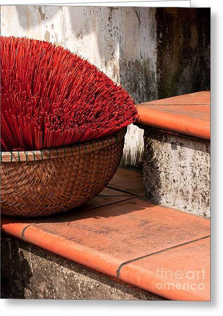 Incense Sticks Greeting Cards - Incense 08 Greeting Card by Rick Piper Photography