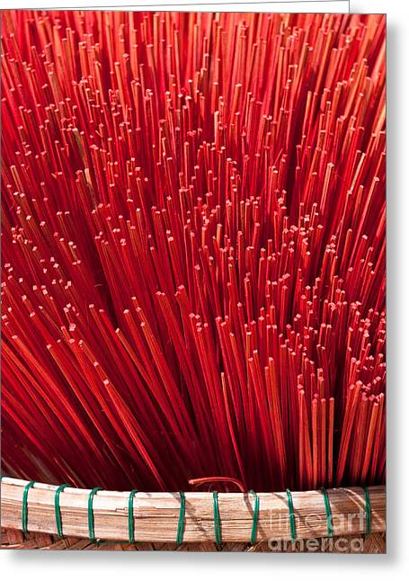 Incense Sticks Greeting Cards - Incense 10 Greeting Card by Rick Piper Photography