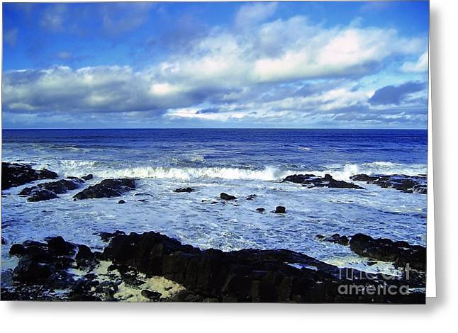 Natural Realm Greeting Cards - Incessant Tide Greeting Card by Nina Ficur Feenan