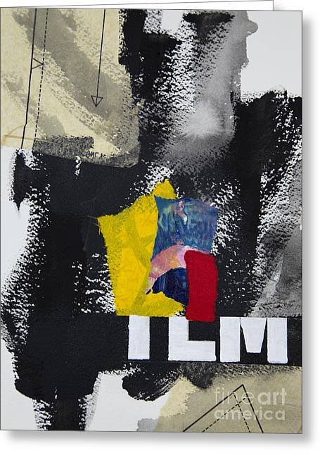 Abstraction Mixed Media Greeting Cards - Incident Greeting Card by Elena Nosyreva