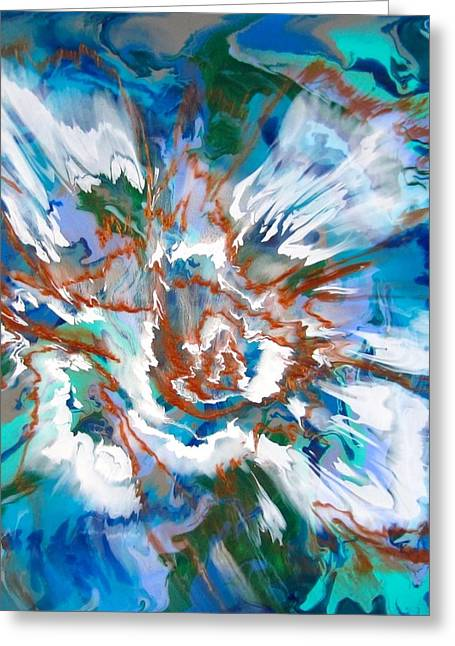 Acrylic Pour Greeting Cards - Incoming Greeting Card by Richard Jensen