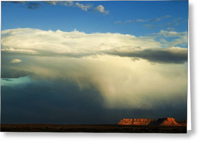 Storm Clouds Greeting Cards - Incoming Storm Greeting Card by Andrew Soundarajan