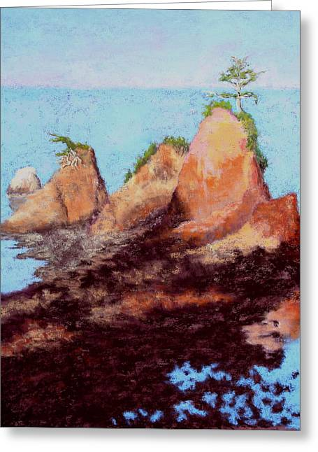 Oregon Pastels Greeting Cards - Incoming Tide Greeting Card by Nancy Jolley