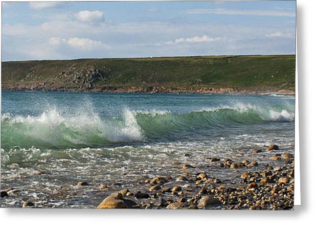Sennen Cove Greeting Cards - Incoming Tide Greeting Card by Terri  Waters