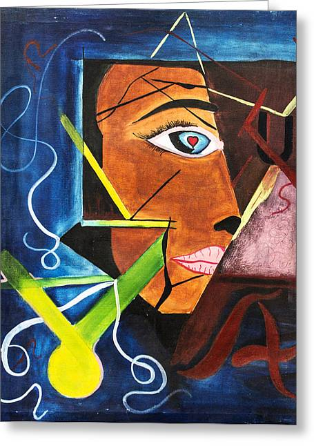 Great Mysteries Mixed Media Greeting Cards - Incomplete Greeting Card by Vicasso Destiny