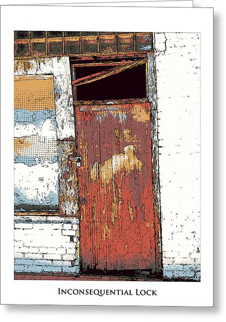 Grapple Greeting Cards - Inconsequential Lock Framed Greeting Card by Robert Pierce