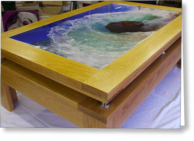 Incorporate Designs Coffee Table  featuring Aqua Dome by Sean Davey Greeting Card by Sean Davey