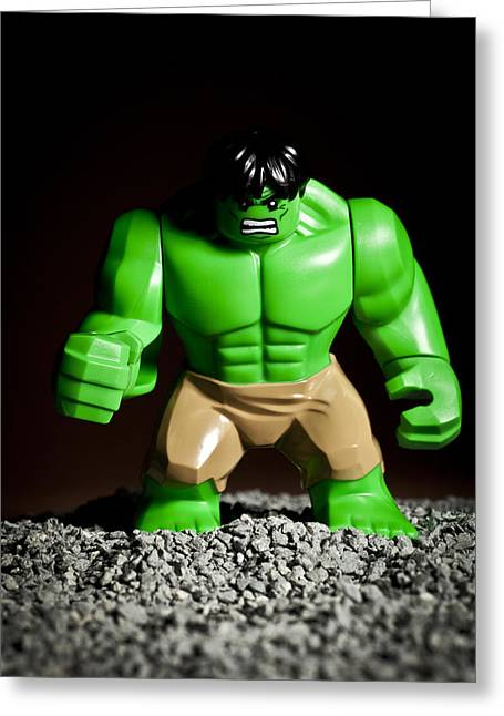 Strength Greeting Cards - Incredible Hulk Greeting Card by Samuel Whitton