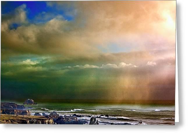 Big Sur California Greeting Cards - Incredible Ocean Greeting Card by Robert Eovaldi