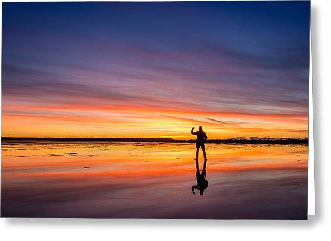 Boundary Waters Greeting Cards - Incredible sunset at Boundary Bay Greeting Card by Pierre Leclerc Photography