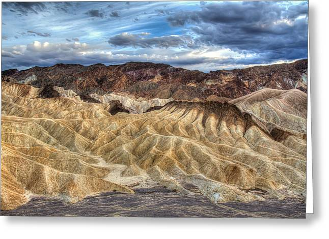 Most Photographs Greeting Cards - Incredible Zabriskie point in Death Valley Greeting Card by Pierre Leclerc Photography