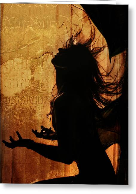 Emotions Greeting Cards - Incubus Greeting Card by Wojciech Zwolinski