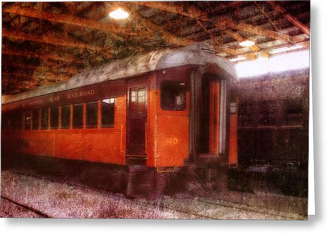 Indiana Photography Digital Greeting Cards - Ind South Bend Passenger Train Greeting Card by Thomas Woolworth