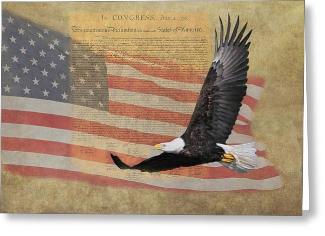 July 4th Photographs Greeting Cards - Independence Greeting Card by Angie Vogel