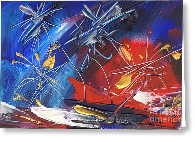 4th July Paintings Greeting Cards - Independence Day Greeting Card by Amy Yosmali