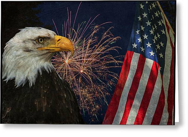 July 4th Greeting Cards - Independence Day Greeting Card by Angie Vogel