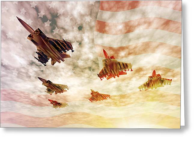 Independence Day Greeting Card by Carol and Mike Werner