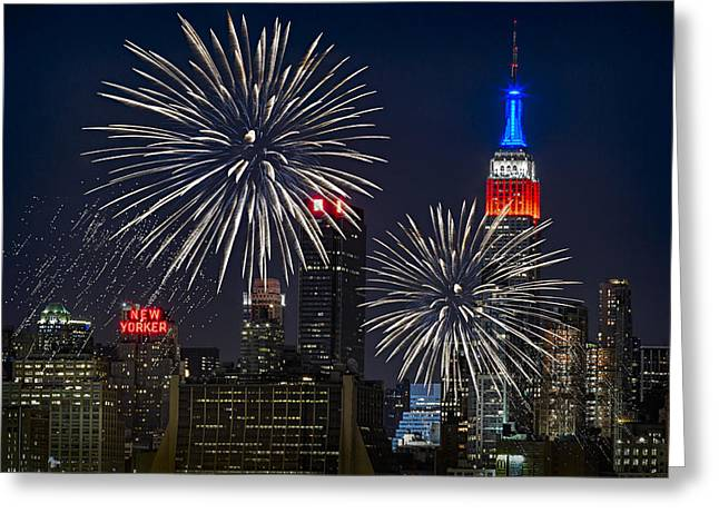 4th Greeting Cards - Independence Day Greeting Card by Eduard Moldoveanu