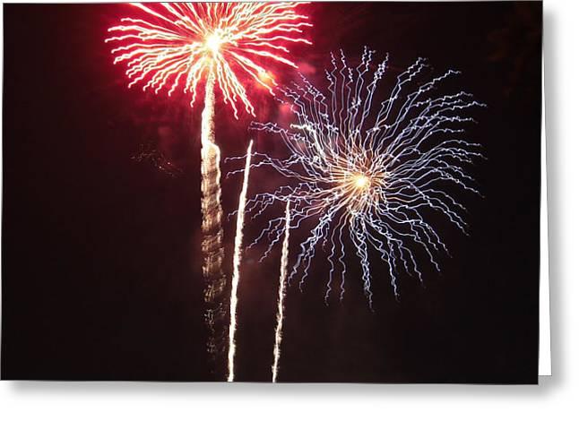 Independence Day Sparklers Greeting Card by Deborah Smolinske