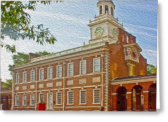 Independence Hall Philadelphia  Greeting Card by Tom Gari Gallery-Three-Photography