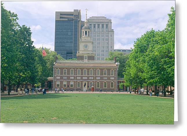 Independence Park Greeting Cards - Independence Hall, Philadelphia Greeting Card by Panoramic Images