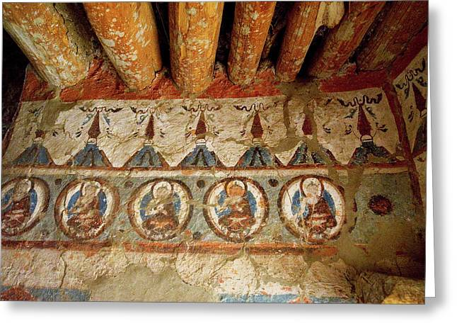 India, 10th Century Murals Greeting Card by Jaina Mishra