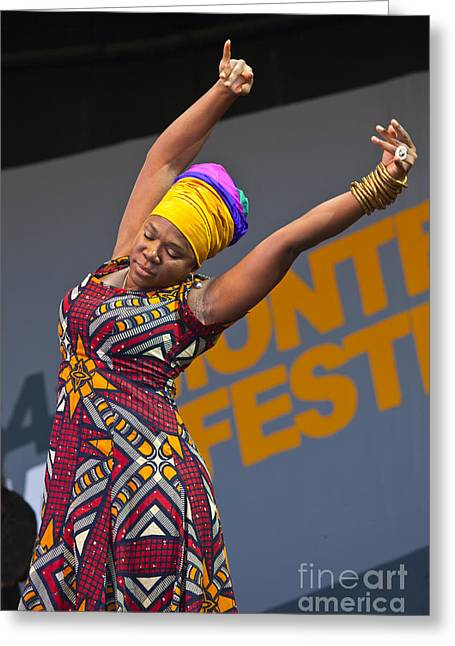 African-americans Greeting Cards - India Arie Greeting Card by Craig Lovell