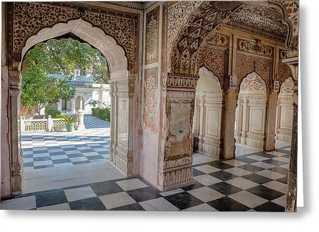 India, Dehradun A Sikh Temple Built Greeting Card by Charles O. Cecil