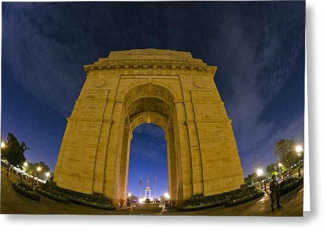 India Greeting Cards - India Gate Greeting Card by Aaron S Bedell